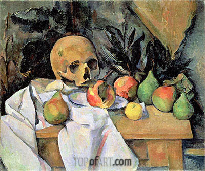 Still Life with Skull, c.1895/00 | Cezanne| Painting Reproduction