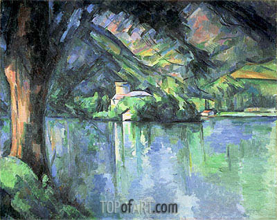 The Lac d'Annecy, 1896 | Cezanne | Painting Reproduction
