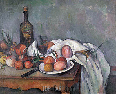 Still Life with Onions, c.1895 | Cezanne| Painting Reproduction