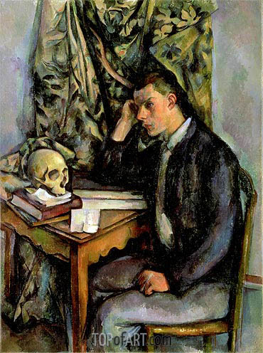 Boy with Skull, c.1896/98 | Cezanne| Painting Reproduction