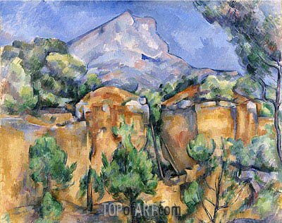 Mont Sainte-Victoire Seen from the Bibemus Quarry, c.1897 | Cezanne| Painting Reproduction