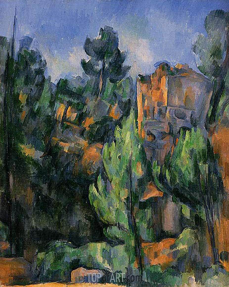 The Bibemus Quarry, c.1898 | Cezanne | Gemälde Reproduktion