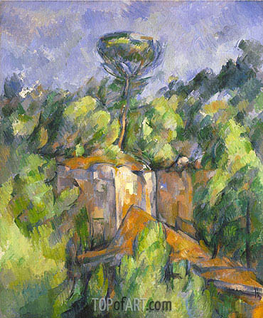 The Bibemus Quarry, c.1898/00 | Cezanne | Gemälde Reproduktion