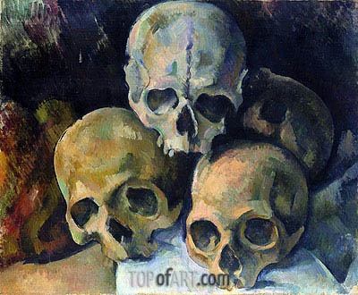 Pyramid of Skulls, c.1898/00 | Cezanne | Painting Reproduction