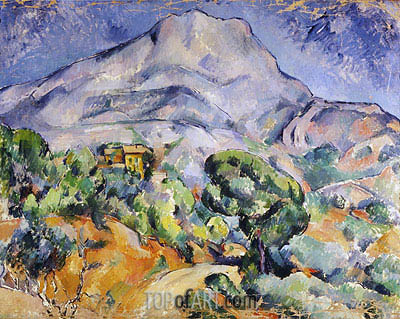 Road near Mont Sainte-Victoire, c.1896/98 | Cezanne| Painting Reproduction
