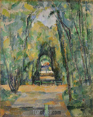 Avenue at Chantilly, 1888 | Cezanne| Painting Reproduction