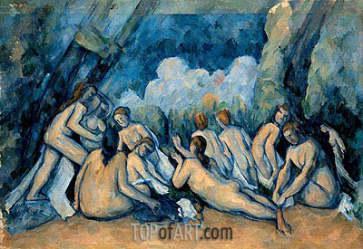 Bathers (Les Grandes Baigneuses), c.1894/05 | Cezanne | Painting Reproduction