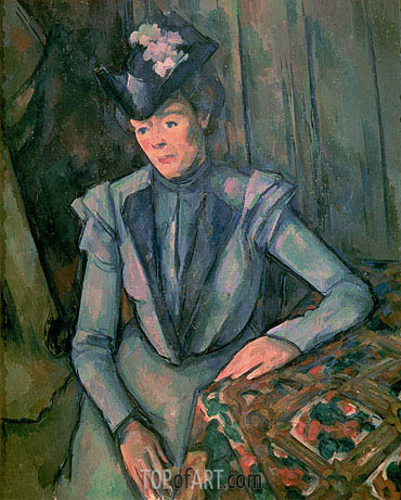 Woman in Blue (Madame Cezanne), c.1900/02 | Cezanne| Painting Reproduction