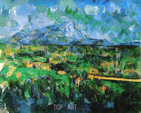 Mount Sainte-Victoire Seen from Les Lauves, c.1902/06 | Cezanne | Painting Reproduction