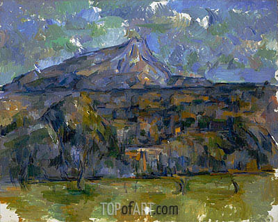 Mont Sainte-Victoire Seen from Les Lauves, c.1902/06 | Cezanne | Painting Reproduction