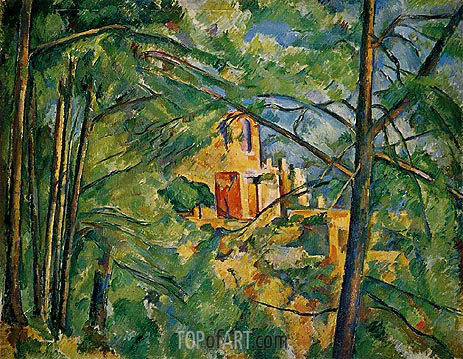 The Chateau Noir, c.1904 | Cezanne | Gemälde Reproduktion