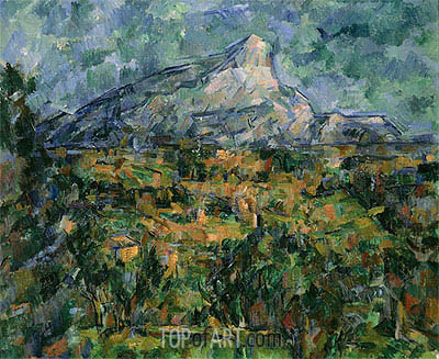 Mont Saint-Victoire, c.1904/05 | Cezanne | Painting Reproduction