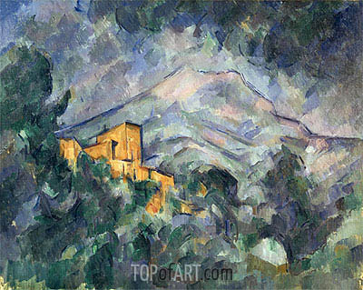 Cezanne | Montagne Sainte-Victoire and the Black Chateau, c.1904/06