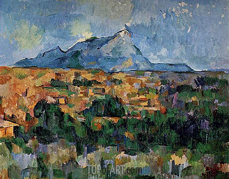 Mont Sainte-Victoire, c.1904/06 | Cezanne | Painting Reproduction