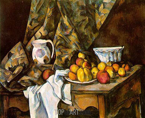 Still Life with Apples and Peaches, c.1905 | Cezanne | Painting Reproduction