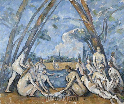 Cezanne | The Large Bathers, 1906