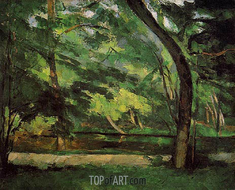 Cezanne | The Etang des Soeurs at Osny, c.1875