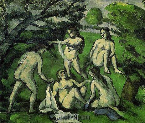 Cezanne | Five Bathers, c.1877/78