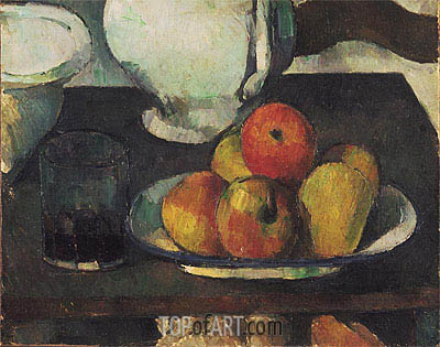 Still Life with Apples and a Glass of Wine, c.1877/79 | Cezanne | Gemälde Reproduktion