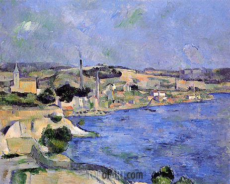 Saint-Henri and the Bay of l'Estaque, c.1877/79 | Cezanne | Painting Reproduction