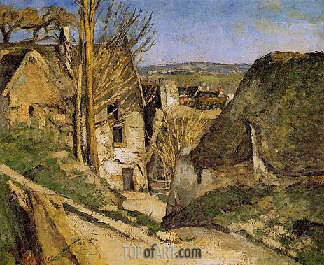 House of the Hanged Man, Auvers-sur-Oise, 1873 | Cezanne| Painting Reproduction