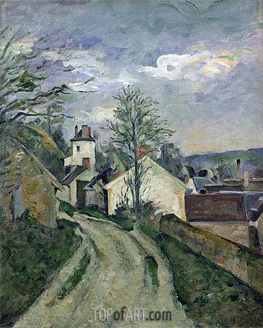 The House of Doctor Gachet at Auvers, c.1872/73 | Cezanne | Gemälde Reproduktion