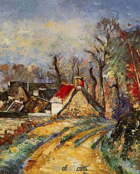 The Turn in the Road at Auvers, c.1873 | Cezanne | Painting Reproduction