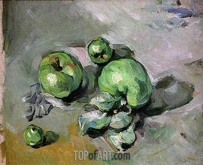 Green Apples, c.1872/73 | Cezanne| Gemälde Reproduktion