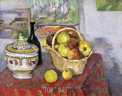 Still Life with Soup Tureen, c.1877 | Cezanne | Gemälde Reproduktion