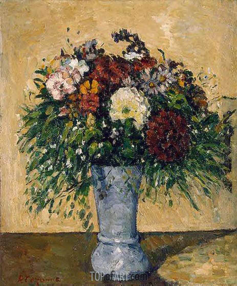 Cezanne | Flowers in a Blue Vase, c.1873/75