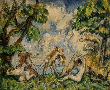 The Battle of Love, c.1880 | Cezanne| Painting Reproduction