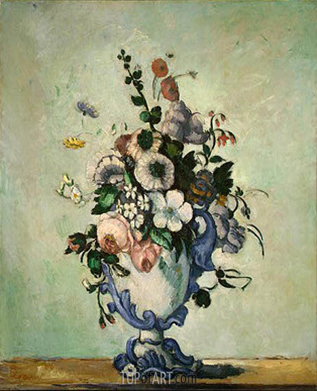 Cezanne | Flowers in a Rococo Vase, c.1876