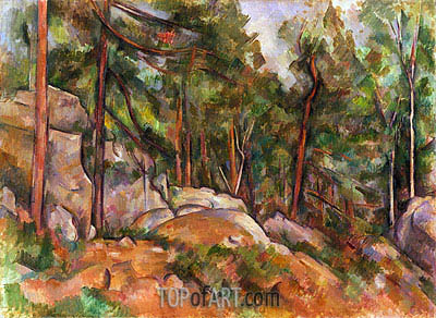 Forest Interior, c.1898/99 | Cezanne | Painting Reproduction