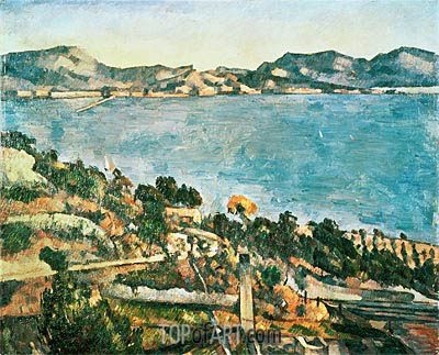 The Sea at l'Estaque, c.1882/85 | Cezanne | Painting Reproduction