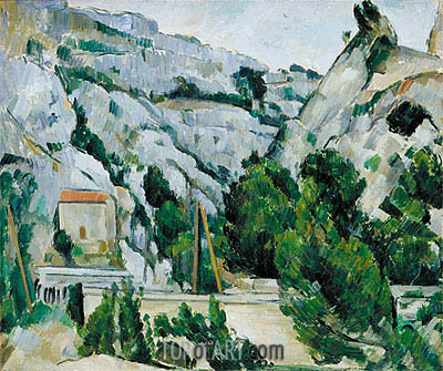 Viaduct at l'Estaque, 1882 | Cezanne | Gemälde Reproduktion