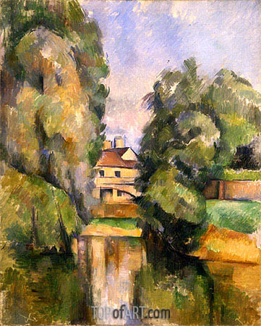 Country House by the Water, c.1888 | Cezanne | Painting Reproduction