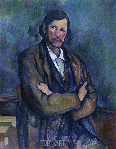 Man with Folded Arms, c.1899 | Cezanne| Painting Reproduction