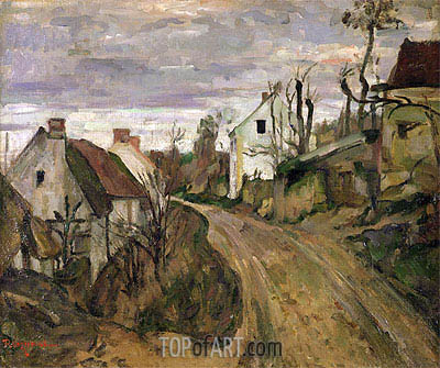 The Village Road, Auvers, c.1872/73 | Cezanne | Painting Reproduction