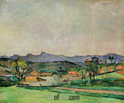 The Chaine de l'Etoile with the Pilon du Roi, c.1878/79 | Cezanne | Gemälde Reproduktion