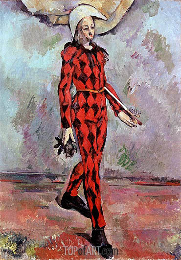 Harlequin, 1890 | Cezanne| Painting Reproduction
