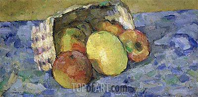Overturned Basket of Fruit, c.1877 | Cezanne | Painting Reproduction