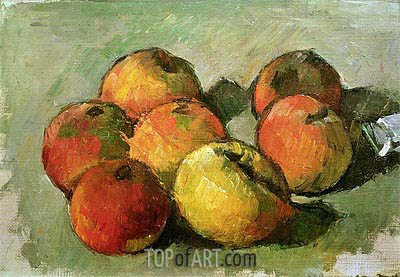 Still Life with Apples and a Tube of Paint, c.1873/77 | Cezanne | Painting Reproduction