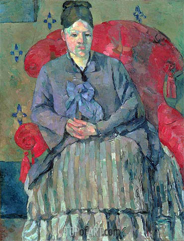 Madame Cezanne in a Red Armchair, c.1877 | Cezanne | Gemälde Reproduktion