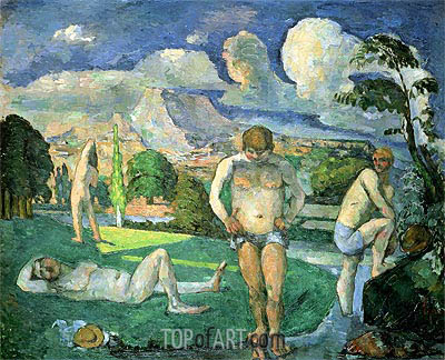 Bathers at Rest, c.1875/76 | Cezanne| Painting Reproduction