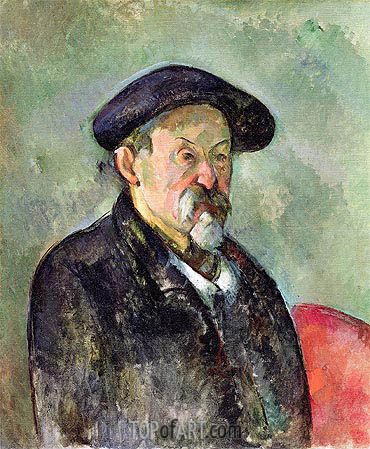 Self Portrait with a Beret, c.1898/99 | Cezanne| Painting Reproduction