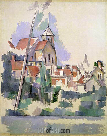 Village Church at Gardanne, c.1900 | Cezanne | Painting Reproduction