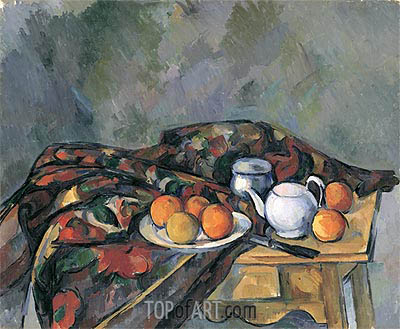 Still Life with a Teapot, undated | Cezanne | Gemälde Reproduktion