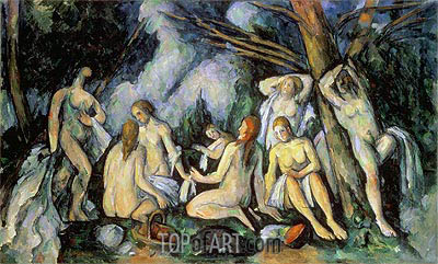 Nudes in Landscape, c.1900/05 | Cezanne | Painting Reproduction
