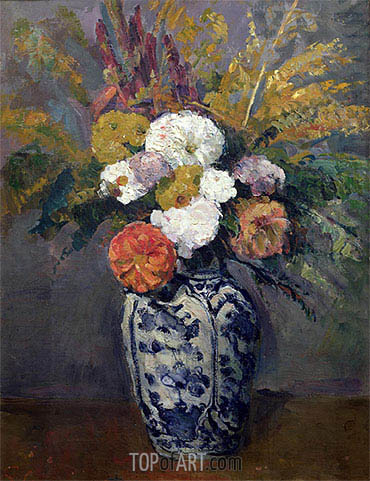 Dahlias, c.1873 | Cezanne| Painting Reproduction