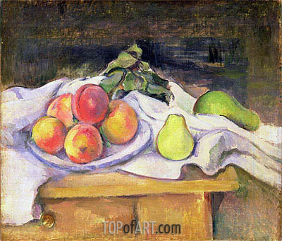 Cezanne | Still Life with Peaches and Pears, c.1890